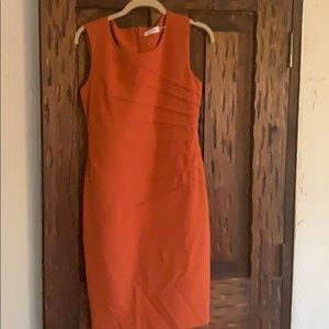 Burnt orange color dress